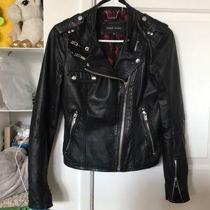 Genuine leather jacket, 2 pockets